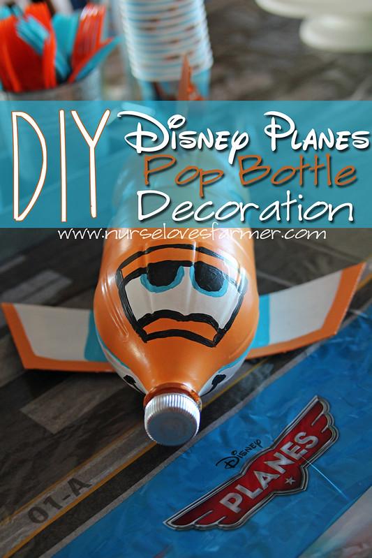 DIY Disney Planes Pop Bottle Decoration