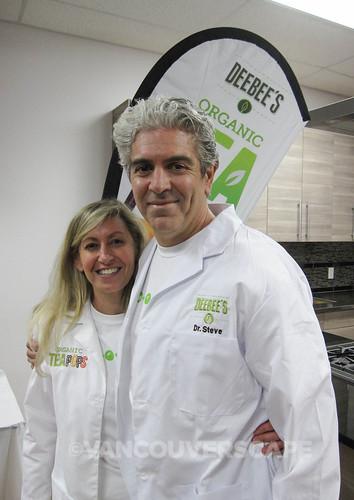 Dr. Dionne Laslo-Baker, PhD and Dr. Stephen Baker, MD of Dee Bee's Tea Pops