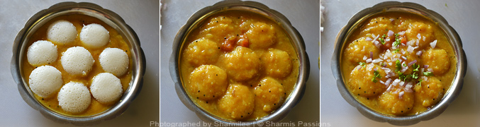 How to make mini idli sambar - Step4