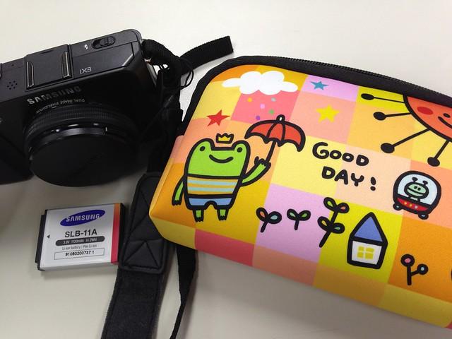 相機包與 Samsung EX1 和備用電池 @P714 炫亮萬用包Good Day