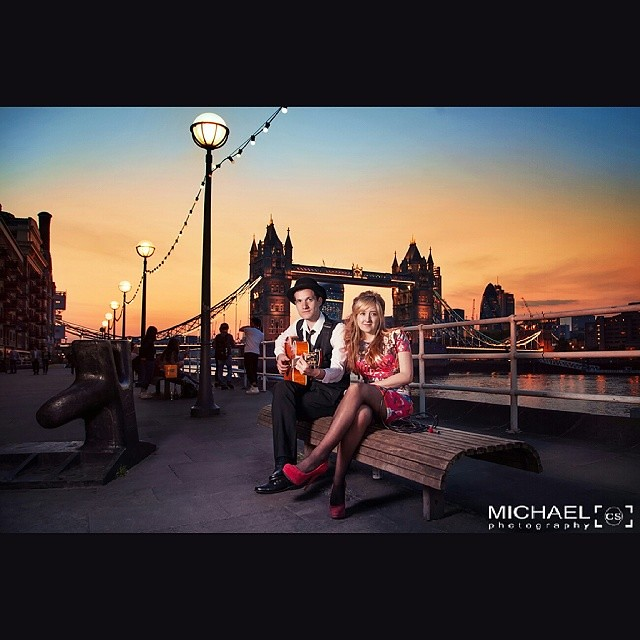 Promo shoot with Pietro & Sian  #promo #photoshoot #sunset #evening #towerbridge #artists #music #retouching #london #uk