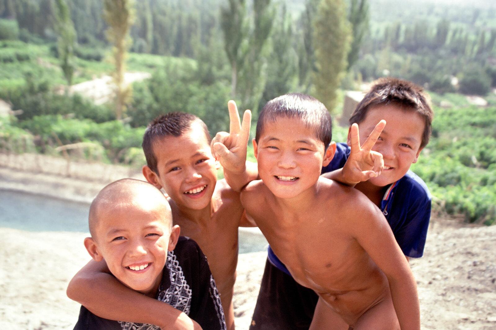Turpan - Province du Xinjiang - Les baigneurs