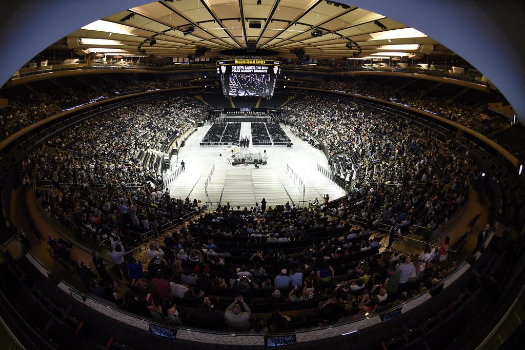 Fisheye view of Madison Square Garden