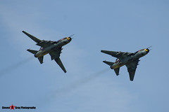 3612 & 9616 - Polish Air Force - Sukhoi SU-22M4 - 140712 - Fairford 2014 - Steven Gray - IMG_4206