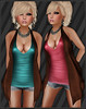 !!NEW!! AngelRED - FULL PERM Mesh AJ Tank Top & Cardigan