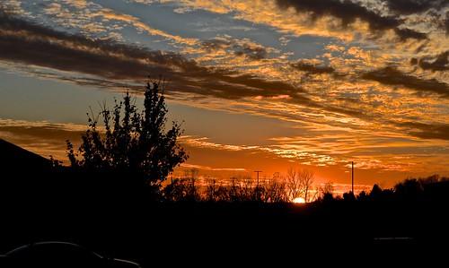 clouds illinois ofallon sunset veteransdayweekend