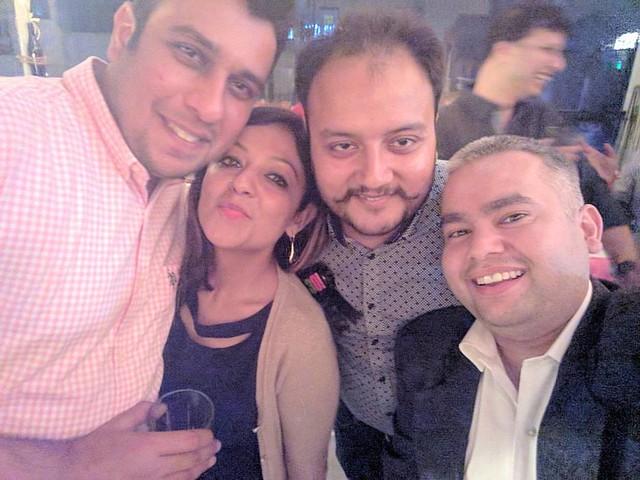 With the Birthday Boy @kartikvaid !! 😉😉 #KartiksBirthday #DirtyThirty #30YearsYoung #BirthdayBoy #RooftopParty #LateNightShananigans