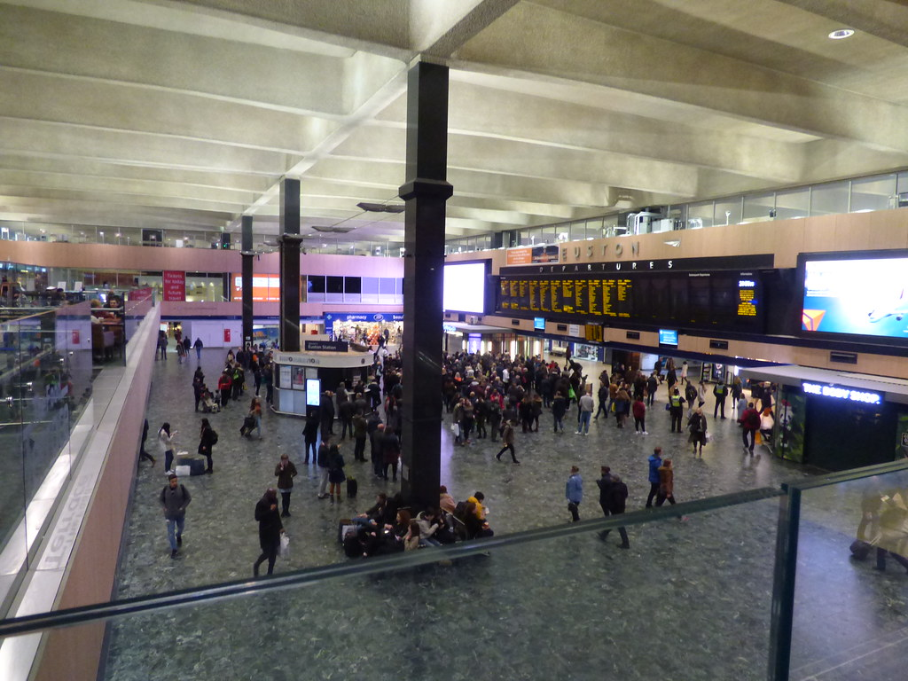 London Euston Station Concourse By Ell Brown