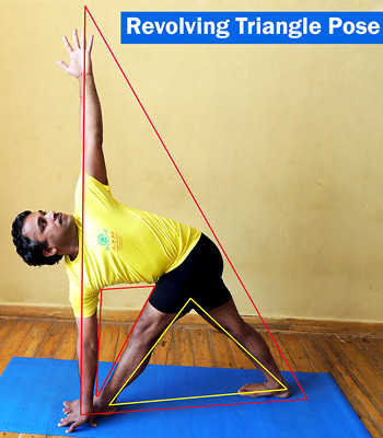 Revolving Triangle Pose