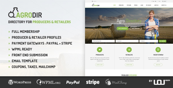 Agrodir v1.0.6 – Directory for Producers & Retailers