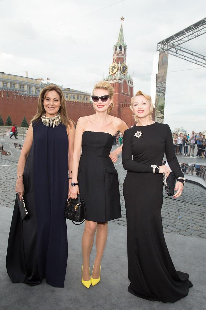 Sati Spivakova Renata Litvinova and  Tatiana Pavlovskaya - Photo Viktor Boyko Dior Moscow 2013