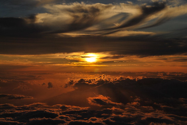 Sunset on the Haleakala
