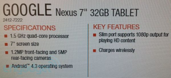 Nexus 7 с Android 4.3