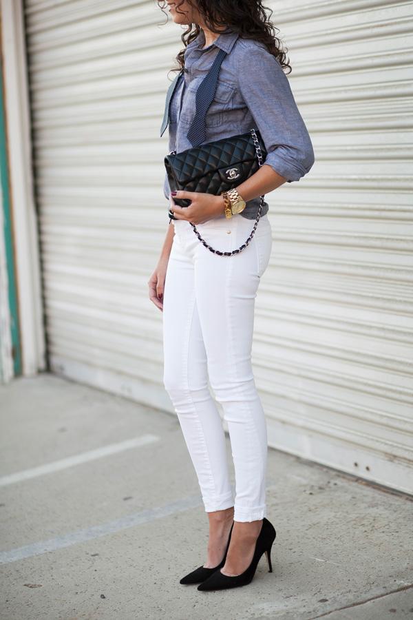 fashion details, chanel, bowtie, woman, blogger, style, san diego, los angeles