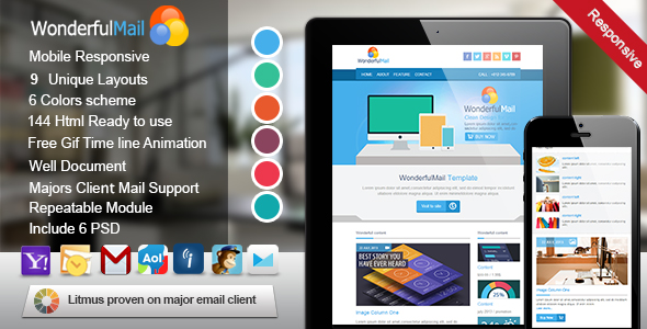 WonderfulMail- Responsive Email Template
