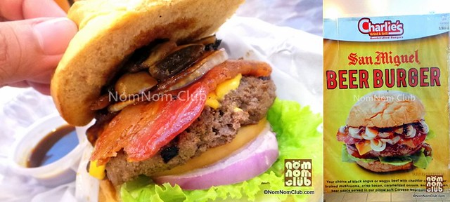 San Miguel Beer Burger