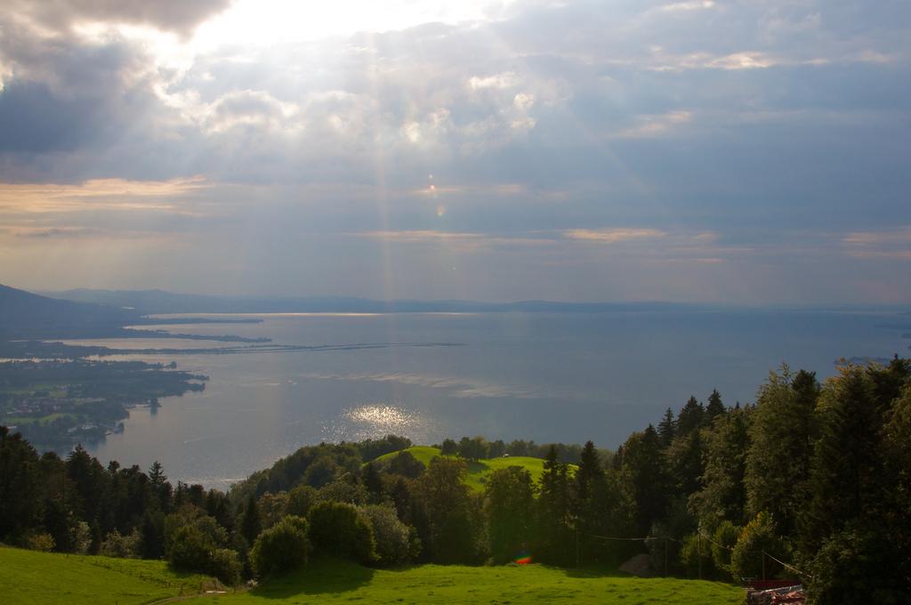 19. Idílica imagen del Lago Constanza, donde desemboca el Rin en su curso alto. Autor, Rob-Wei
