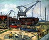 Guan Liang (1901-1986) - 1959 The Shipyard (Christie's Hong Kong, 2011) by RasMarley