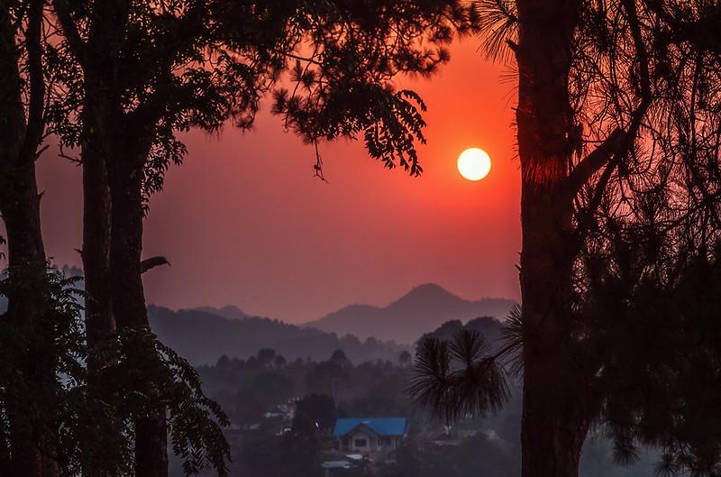 kalaw sunset
