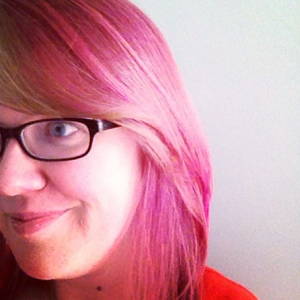 Auditioning all-over pink for Boston trip. Will it last the whole week? (This after 3 washes). #hmm
