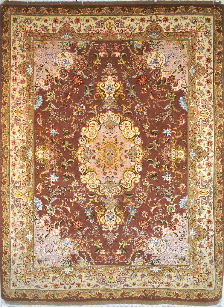 Tabriz Silk Persian Area Rug 5x7