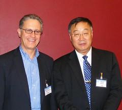 WGI共同主席Thomas Stocker與秦大河(IPCC提供)