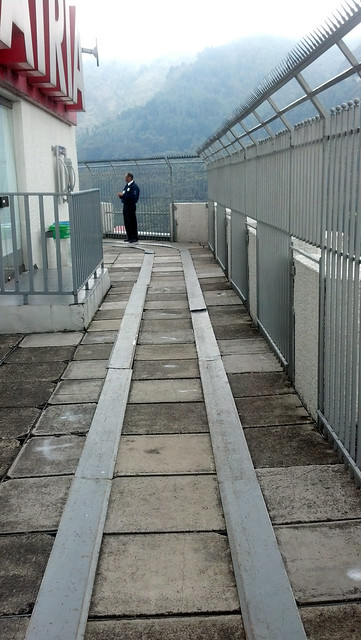 Security guard at the observation deck.