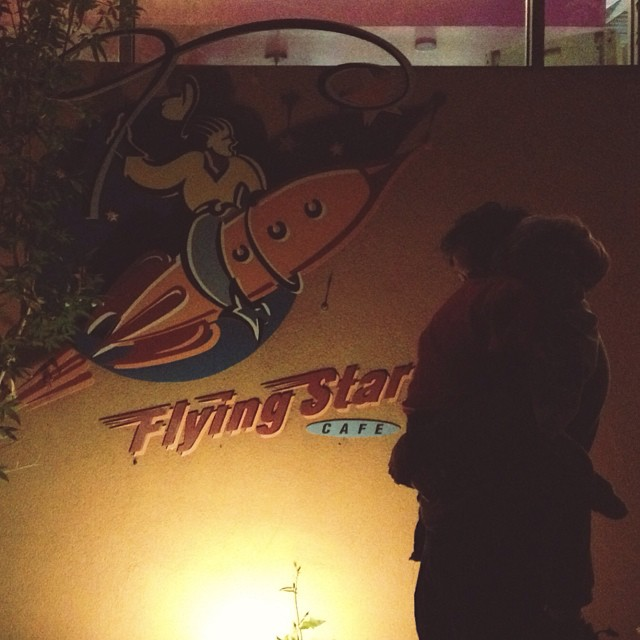 late night family date after #cfp13 #tiredbutworthit #abq #flyingstarcafe