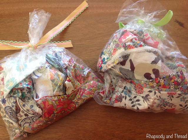 Great little Liberty scrap bags from Amitie Fabrics