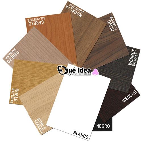 colores de la madera para el canapé cama con cajones