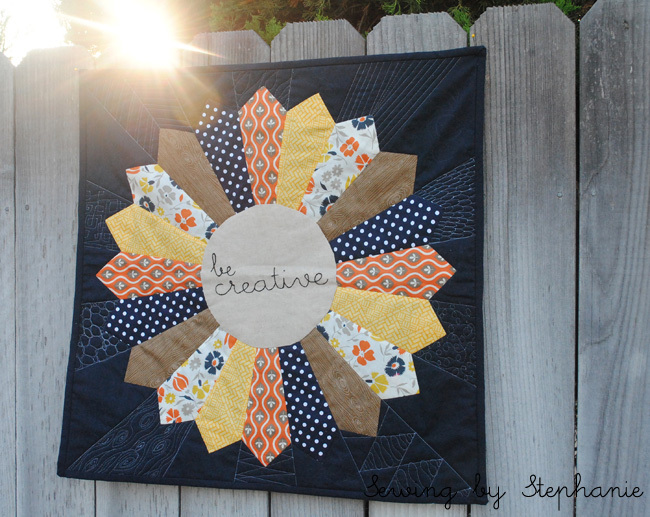 """Be Creative"" Dresden Mini Quilt"
