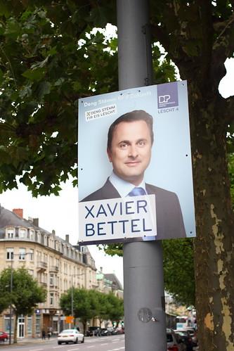 Xavier Bettel on an Ad