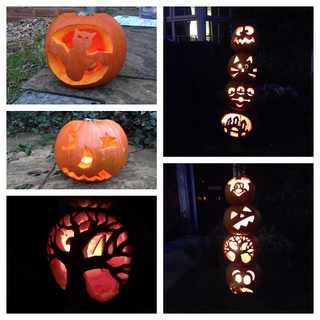 Maddy did a fab bat, Amelie a great face but as usual, Auntie Kate stole the show :) #pumpkins