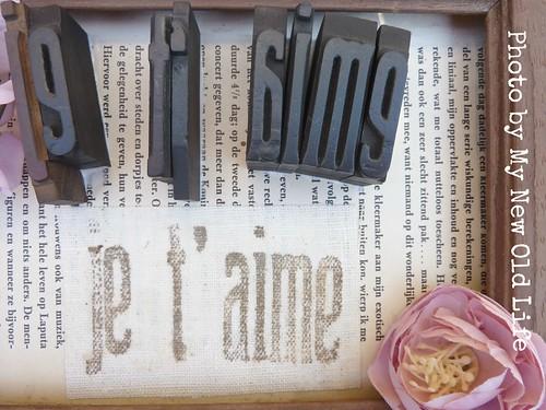 quadretto handmade caratteri tipografici