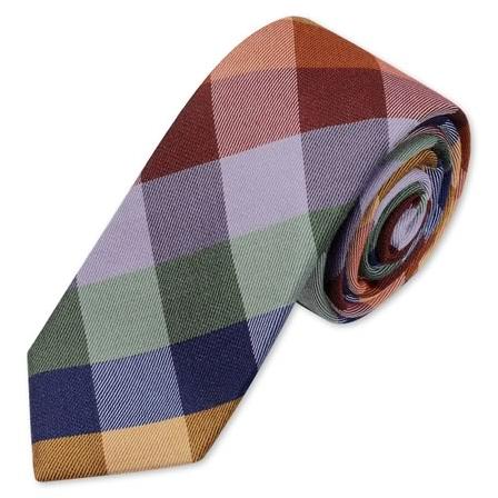 Charles Tyrwhitt Multi-check wool woven slim tie