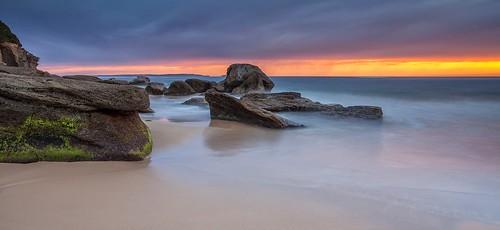 longexposure seascape beach sunrise australia