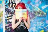 Mental Arithmetic (Anya Holloway Reading Pythagorean Hodograph Curves), Banksy Tunnel London by flatworldsedge