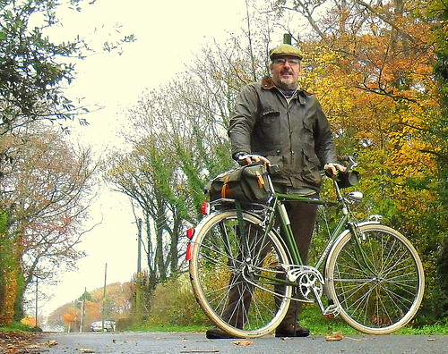 A chilly November ride on the Batavus.