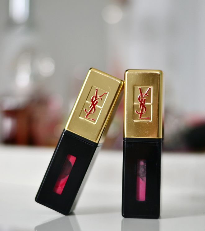 YSL Glossy Stain 12 and 15