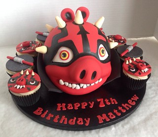 Angry Birds Darth Maul Birthday Cake