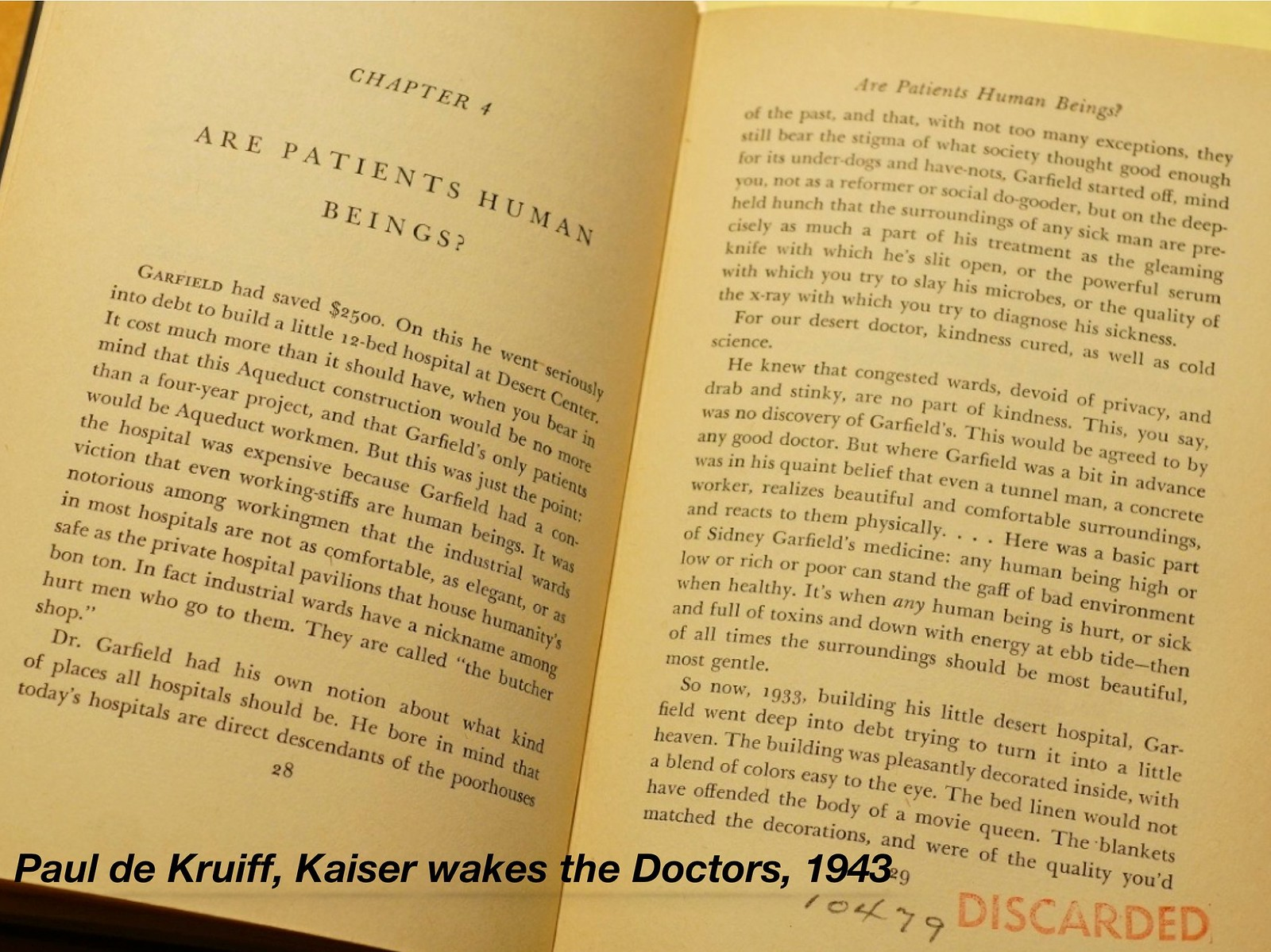 Kaiser Wakes the Doctors Book 33949