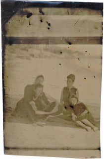 Family on the Beach Tintype