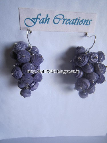 Handmade Jewelry - Paper Bead Grapes Earrings (Purple) by fah2305