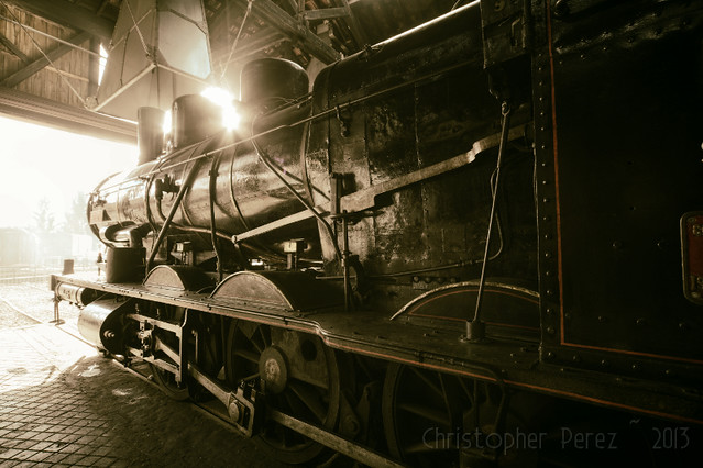Steam Power ~ Longueville Roundhouse ~ AJECTA