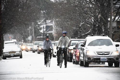 Snow scenes in Portland-10