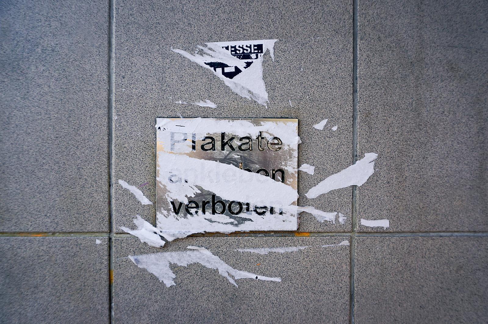 streetart plakatieren verboten