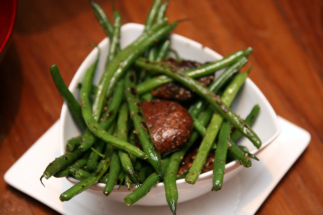 Side dish: green beans and portobello (awesome!)