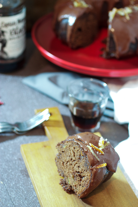 Candied Citrus and Chocolate Rum Cake #CaptainsTable