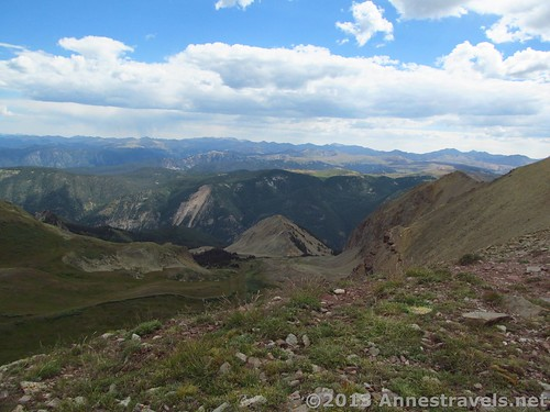 Part of the view from the first pass, Electric Pass Trail, White River National Forest, Colorado