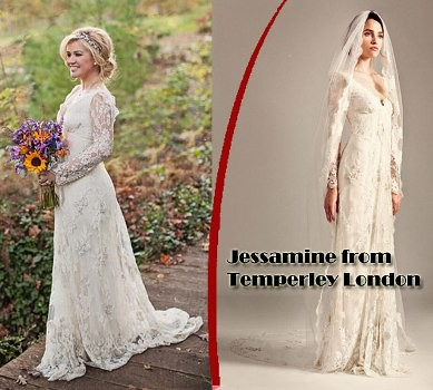 Kelly Clarkson in Jessamine Temperley wedding gown